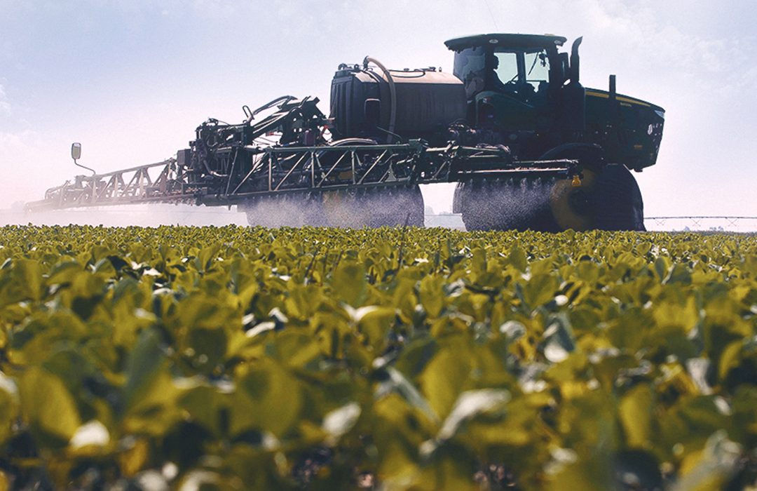 Asgrow® sprayer in soybean field during growing season