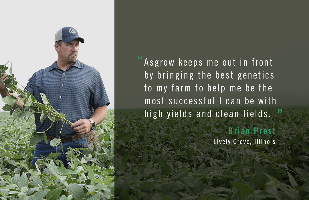 Asgrow® farmer Brian Prest quote about best genetics