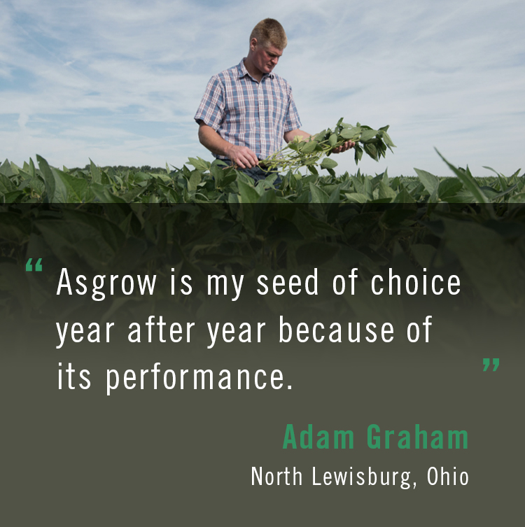 Quote from Asgrow® farmer Adam Graham
