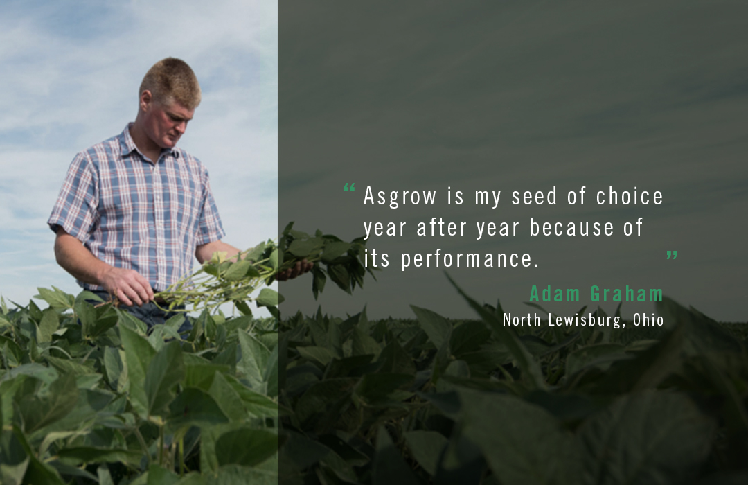 Asgrow® farmer Adam Graham quote about Asgrow seed of choice performance