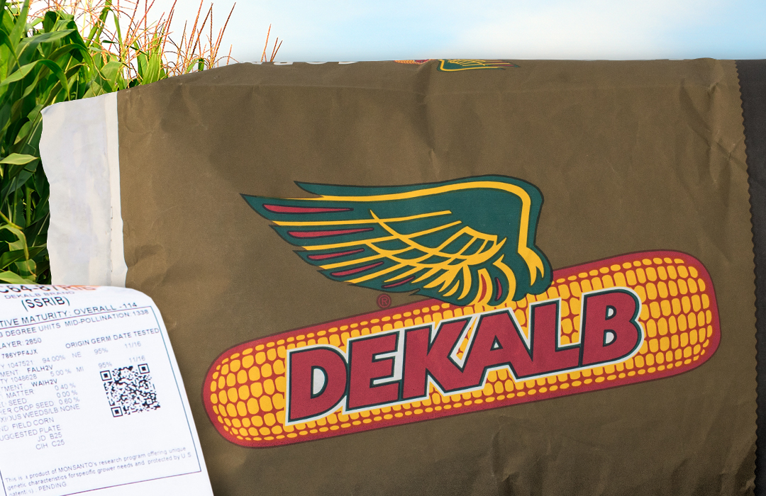 DEKALB® Corn Seed Bag with QR Code Tool Graphic