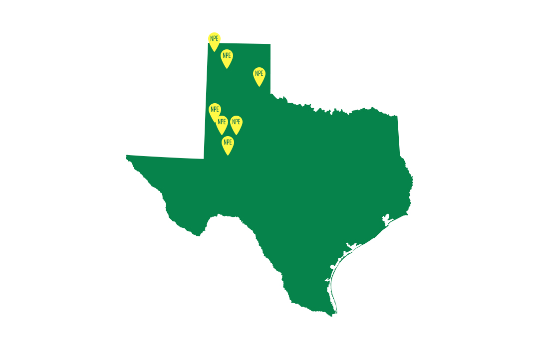 Deltapine® DP 1908 B3XF NPE Map of Texas