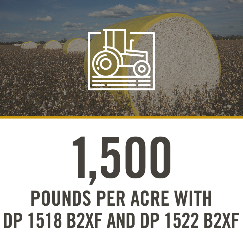 1500 POUNDS PER ACRE WITH DP 1518 B2XF AND 1522 B2XF
