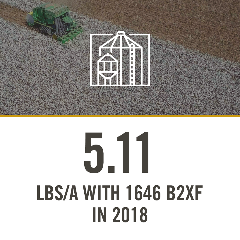 5.11 lbs/a with 1646 b2xf in 2018