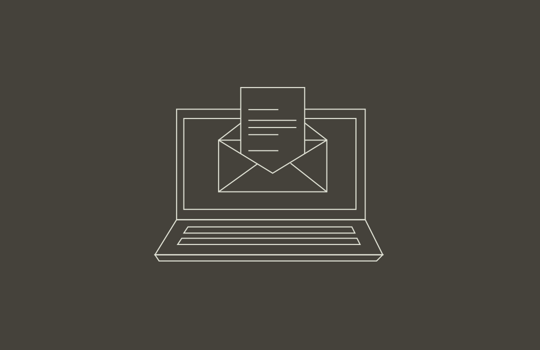 Dark email sign up icon